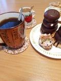 Επιδόρπια και καφές στοκ εικόνα