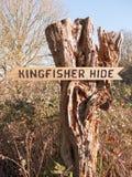 Επιφύλαξη φύσης φυτιλιών Fingringhoe έξω από τη διαστημική επαρχία ανοικτών χωρών υποβάθρου τοπίων  ξύλο σημαδιών αλκυόνων για να στοκ εικόνες