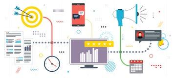 Επιχειρησιακές μάρκετινγκ, analytics και στρατηγική στοκ εικόνες