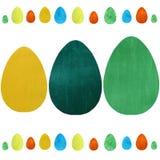 ζωηρόχρωμα αυγά Πάσχας ανα& Σχέδιο κτυπημάτων βουρτσών απεικόνιση αποθεμάτων