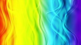 Ζωηρόχρωμη αφηρημένη τηλεοπτική ζωτικότητα κυμάτων ουράνιων τόξων ομαλή ελεύθερη απεικόνιση δικαιώματος