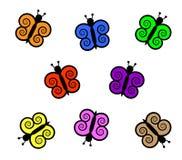 Ζωηρόχρωμη απεικόνιση πεταλούδων στοκ εικόνα