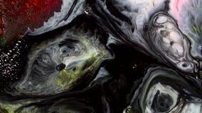 Ζωηρόχρωμος μαρμάρινος συνδυασμός σύστασης των χρωμάτων στο νερό Αφηρημένο ζωηρόχρωμο υπόβαθρο του θολώματος και της μίξης του υγ απόθεμα βίντεο