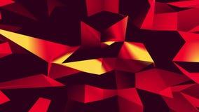 Ζωηρόχρωμο τριγώνων πολυγώνων χωρίς ραφή υπόβαθρο κινήσεων βρόχων ικανό αφηρημένο ελεύθερη απεικόνιση δικαιώματος