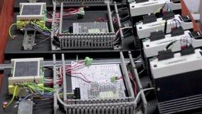 Ηλεκτρονική μηχανή εξοπλισμού εργοστασίων Manufactory απόθεμα βίντεο