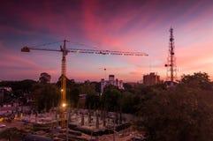 ηλιοβασίλεμα εργοτάξι&omega στοκ εικόνα με δικαίωμα ελεύθερης χρήσης