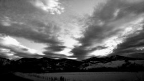 Ηλιοβασίλεμα σε B&W στοκ εικόνα με δικαίωμα ελεύθερης χρήσης