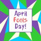 Ημέρα ανόητων Απριλίου - διάνυσμα ελεύθερη απεικόνιση δικαιώματος