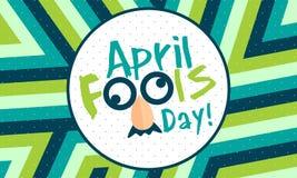 Ημέρα ανόητων Απριλίου - διάνυσμα διανυσματική απεικόνιση