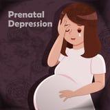 Η έγκυος γυναίκα αισθάνεται ανήσυχη ελεύθερη απεικόνιση δικαιώματος