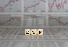 Η ανταλλαγή ETF ανταλλάσσει τα κεφάλαια στοκ εικόνα