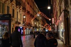 Η για τους πεζούς οδός του ιστορικού κέντρου, μέσω Garibaldi στοκ εικόνες