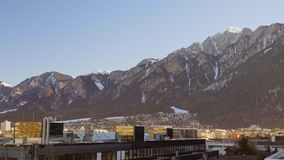 Η ιστορική πόλη του ηλιοβασιλέματος Chur απόθεμα βίντεο
