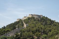 Η ισπανική συνεδρίαση φρουρίων στο λόφο επάνω από την παλαιά πόλη, που κατασκευάζεται μετά από την έκρηξη πυρίτιδας που το 1579 στοκ φωτογραφίες με δικαίωμα ελεύθερης χρήσης