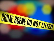Η κίτρινη σκηνή εγκλήματος εμποδίων ταινιών δεν εισάγεται στο μουτζουρωμένο αστυνομικό κλίμα διανυσματική απεικόνιση