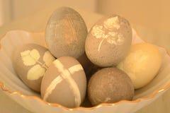 Η Κυριακή Πάσχας, αυγά Πάσχας αυγών Πάσχας με ένα όμορφο σχέδιο στοκ φωτογραφία