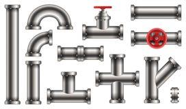 Η δημιουργική διανυσματική απεικόνιση του νερού μετάλλων, πετρέλαιο, αγωγός υγραερίου, διοχετεύει με σωλήνες τα λύματα που απομον ελεύθερη απεικόνιση δικαιώματος