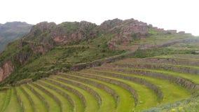 Η σημαντικότερη αρχαιολογική περιοχή στην ιερή κοιλάδα, Pisac, Περού, 02/07/2019 στοκ εικόνες
