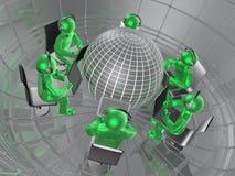 Η σφαίρα και πράσινος επανδρώνει απεικόνιση αποθεμάτων
