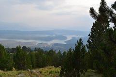 The artificial Aoos lake 1350m altitude, Epirus, Greece Royalty Free Stock Photos