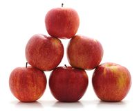 η τρισδιάστατη πυραμίδα μήλων δίνει στοκ εικόνα
