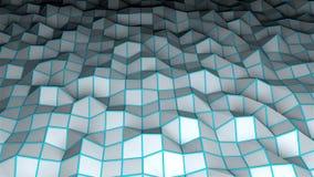 Η χαμηλή polygonal επιφάνεια, παραγμένο υπολογιστής σύγχρονο αφηρημένο υπόβαθρο, τρισδιάστατο δίνει απεικόνιση αποθεμάτων