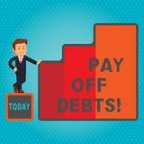 Η παρουσίαση σημαδιών κειμένων πληρώνει μακριά τα χρέη Η εννοιολογική πληρωμή φωτογραφιών για το πράγμα εσείς έχει στις επενδύσει ελεύθερη απεικόνιση δικαιώματος