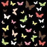 Η πεταλούδα άνευ ραφής επαναλαμβάνει το υπόβαθρο σχεδίων διανυσματική απεικόνιση