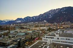 Η πόλη Chur στις Άλπεις της Ελβετίας στα σύνορα με την Ιταλία στοκ φωτογραφίες με δικαίωμα ελεύθερης χρήσης