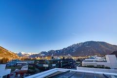 Η πόλη Chur στις Άλπεις της Ελβετίας στα σύνορα με την Ιταλία στοκ εικόνα με δικαίωμα ελεύθερης χρήσης