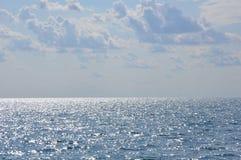 Θάλασσα Ελλήνων, horizont, ασθενής άνεμος αερακιού από το SE στοκ φωτογραφία με δικαίωμα ελεύθερης χρήσης