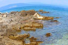 Θάλασσα σε Istria στοκ φωτογραφίες