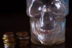 Θάνατος και έννοια χρημάτων στοκ εικόνα