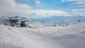 Θέρετρο χειμερινών βουνών Krippenstein, Obertraun, Αυστρία απόθεμα βίντεο