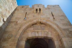 Ιερουσαλήμ, Παλαιστίνη, Ισραήλ 14 Αυγούστου 2015 η πύλη στην παλαιά πόλη της Ιερουσαλήμ στοκ φωτογραφία με δικαίωμα ελεύθερης χρήσης