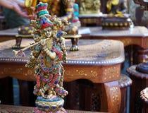 Ινδικό ειδώλιο Krishna αναμνηστικών με το φλάουτο στοκ φωτογραφίες με δικαίωμα ελεύθερης χρήσης