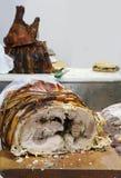 ιδανικό χοιρινού κρέατος ψητού για τα νόστιμα σάντουιτς για την πώληση στο foo οδών στοκ εικόνες