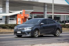 Ιδιωτικό αυτοκίνητο, Toyota Corolla Altis Ενδέκατη γενεά στοκ φωτογραφία με δικαίωμα ελεύθερης χρήσης