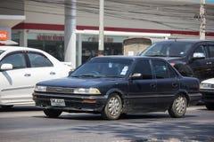 Ιδιωτικό παλαιό αυτοκίνητο, Toyota Corolla στοκ φωτογραφία