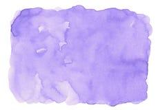 Ιώδες πορφυρό αφηρημένο υπόβαθρο watercolor για το σχέδιο υποβάθρων συστάσεων και εμβλημάτων Ιστού ελεύθερη απεικόνιση δικαιώματος