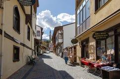 Ιστορική άποψη περιοχής Odunpazari στην πόλη Εσκί Σεχίρ της Τουρκίας στοκ φωτογραφία