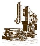 Ιστορική αυλακώνοντας μηχανή απεικόνιση αποθεμάτων