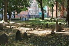 Ιστορικό έδαφος θαψίματος σιτοβολώνων στη Βοστώνη, μΑ στοκ φωτογραφία με δικαίωμα ελεύθερης χρήσης