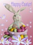 κάρτα Πάσχα bunny αυγά Πάσχας στοκ εικόνες
