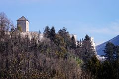 Κάστρο Hohensalzburg στο Σάλτζμπουργκ στην Αυστρία στοκ εικόνα