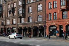 Κέντρο της πόλης του Μπέργκεν στοκ φωτογραφία με δικαίωμα ελεύθερης χρήσης