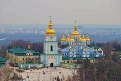 Κίεβο, Ουκρανία Άποψη του μοναστηριού Αγίου Michael στοκ φωτογραφίες