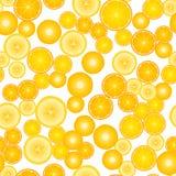 Κίτρινο σχέδιο επιφάνειας σχεδίων φρούτων άνευ ραφής Απεικόνιση που απομονώνεται διανυσματική στο λευκό απεικόνιση αποθεμάτων