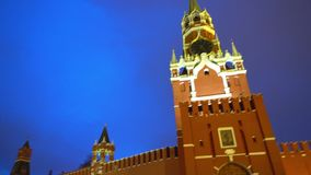 Καθεδρικός ναός του βασιλικού Αγίου, ρολόι του Κρεμλίνου, κτύποι, τοίχος του Κρεμλίνου, πανόραμα, να εξισώσει απόθεμα βίντεο