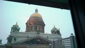 Καθεδρικός ναός του Isaac στην Άγιος-Πετρούπολη απόθεμα βίντεο